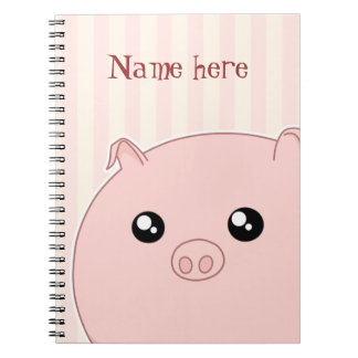 Cute Kawaii chubby pink pig Notebook
