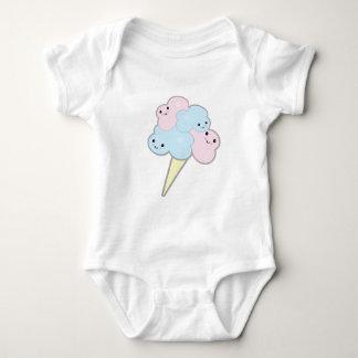 cute kawaii cotton candy baby bodysuit