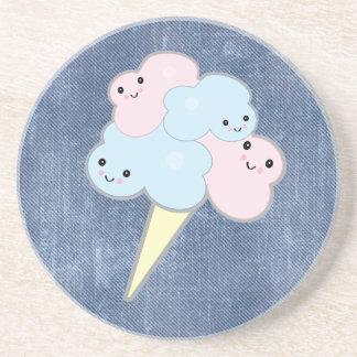 cute kawaii cotton candy beverage coaster