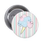 cute kawaii cotton candy pinback button