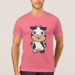 Cute Kawaii Cow Cartoon T-Shirt