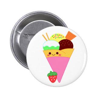 cute kawaii crape pinback button
