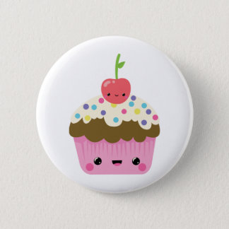 Cute Kawaii Cupcake Pinback Button