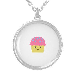Cute Kawaii Cupcake Silver Plated Necklace