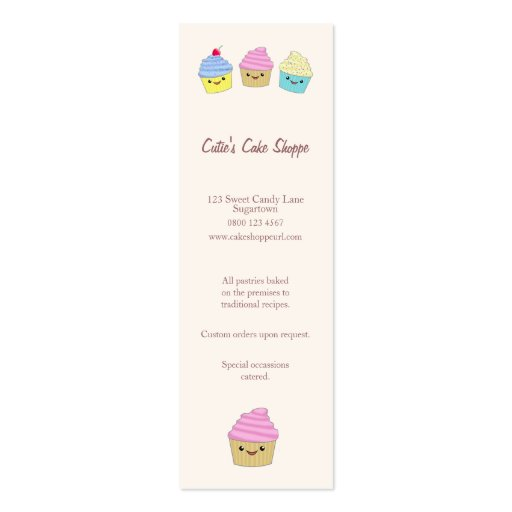 Cute kawaii business card templates page3 bizcardstudio cute kawaii cupcakes in pastel colors business card colourmoves