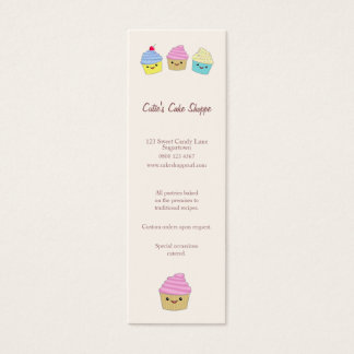 Cute Kawaii Cupcakes in Pastel Colors Mini Business Card