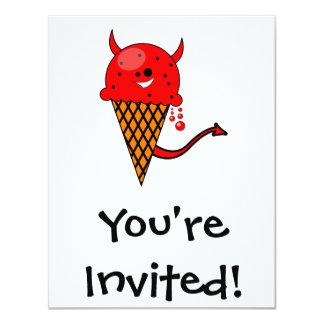 cute kawaii devil ice cream cone card