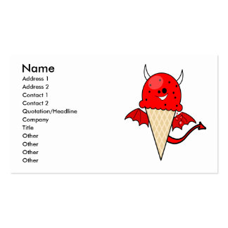cute kawaii devil ice cream cone with wings business card