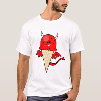 cute kawaii devil ice cream cone with wings T-Shirt