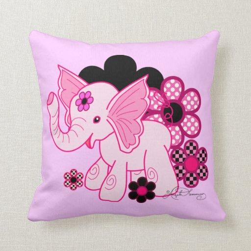 Cute Kawaii Elephant Throw Pillow Zazzle