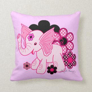 Cute Kawaii Elephant Throw Pillow
