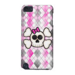Cute Kawaii Emo Skull and Crossbones on Argyle iPod Touch 5G Cover