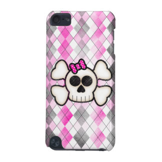 Cute Kawaii Emo Skull and Crossbones on Argyle iPod Touch 5G Case