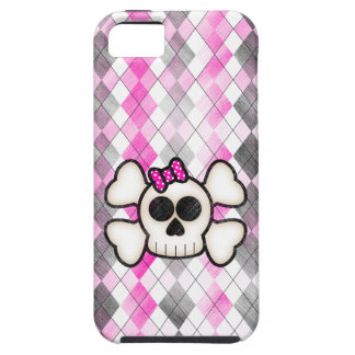 Cute Kawaii Emo Skull and Crossbones on Argyle iPhone 5 Cover
