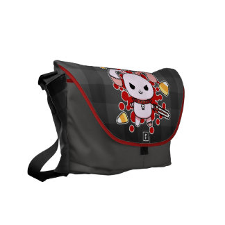 Cute Kawaii evil bunny chainsaw Courier Bag
