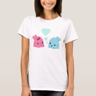 Cute Kawaii Fish in Love Heart Bubbles t-shirt