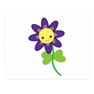 CUTE Kawaii  FLOWER Character Postcard