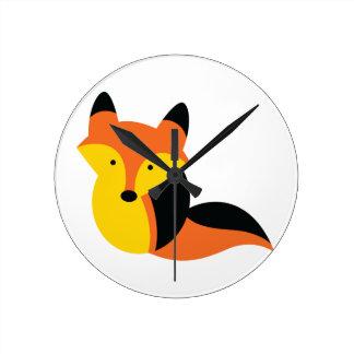 Cute KAWAII fox Wall Clocks