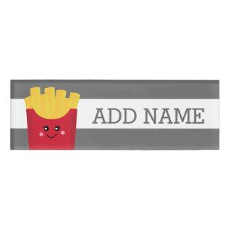 Cute Kawaii French Fries with Custom Name Name Tag