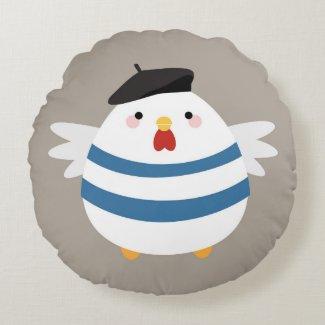 Cute Kawaii French Hen Illustration