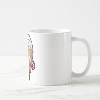 Cute Kawaii Gingerbread Man Christmas Coffee Mug