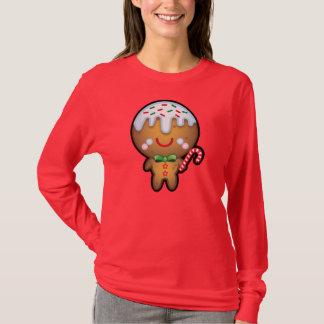 Cute Kawaii Gingerbread Man Christmas Women Jumper T-Shirt