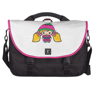 Cute Kawaii Girl Kid With Strawberry Hat Commuter Bag