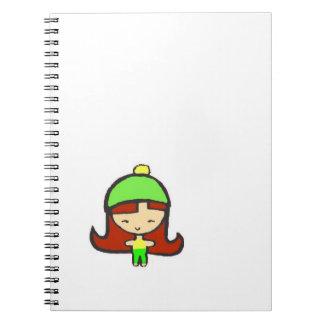 cute kawaii girl notebook