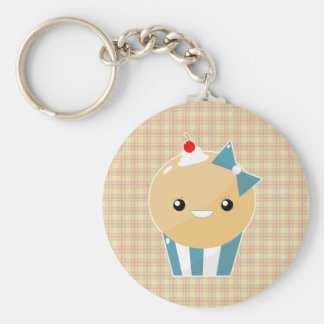 Cute Kawaii Girly Muffin Cupcake Basic Round Button Keychain