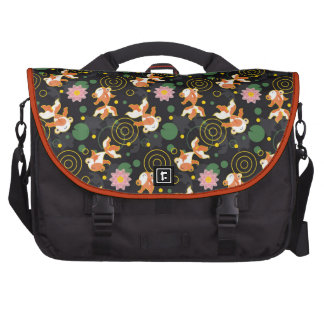 Cute kawaii goldfish pond laptop bags