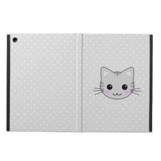 Cute Kawaii Gray Tabby Cat Cartoon iPad Air Cases