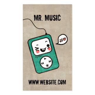 Cute Kawaii Grunge Cartoon Music Business Card