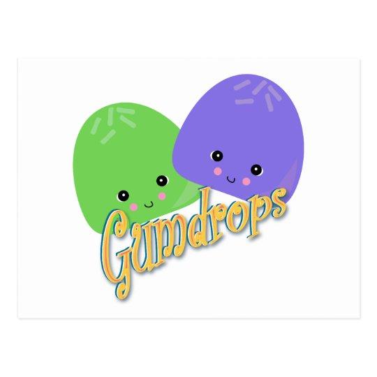 Cute Kawaii Gumdrops Postcard