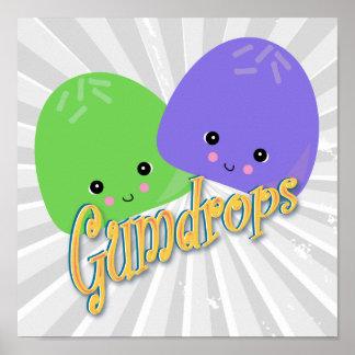 Cute Kawaii Gumdrops Posters