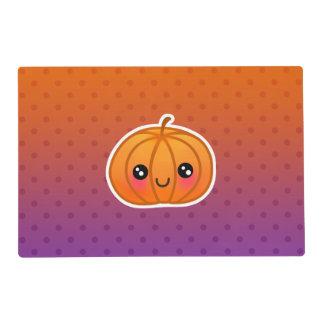 Cute Kawaii Halloween Cartoon Pumpkin Design Placemat