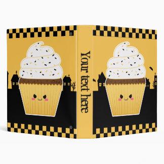 Cute Kawaii Halloween cupcake 3 Ring Binder