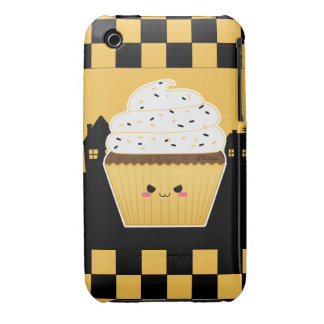 Cute Kawaii Halloween cupcake Case-Mate iPhone 3 Case