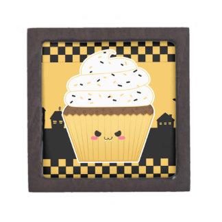 Cute Kawaii Halloween cupcake Premium Jewelry Box