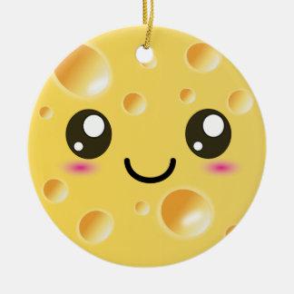 Cute Kawaii Happy Cheese Ceramic Ornament