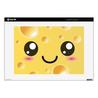 "Cute Kawaii Happy Cheese Decals For 15"" Laptops"