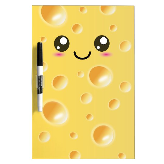 Cute Kawaii Happy Cheese Dry-Erase Board
