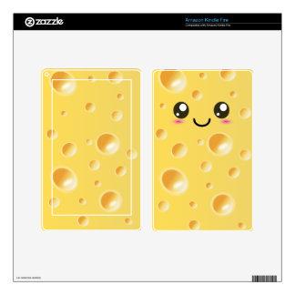 Cute Kawaii Happy Cheese Kindle Fire Skin