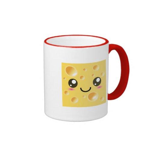 Cute Kawaii Happy Cheese Coffee Mug