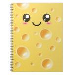 Cute Kawaii Happy Cheese notebook