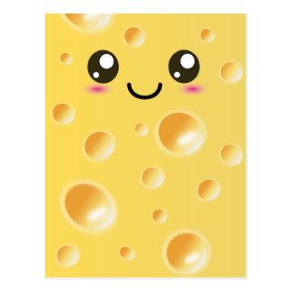 Cute Kawaii Happy Cheese Postcards
