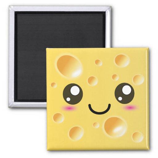 Cute Kawaii Happy Cheese Refrigerator Magnets