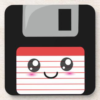 Cute / Kawaii Happy Floppy Disk Drink Coaster