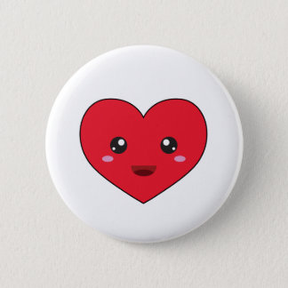 cute kawaii heart button