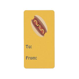 Cute Kawaii Hot Dog Label