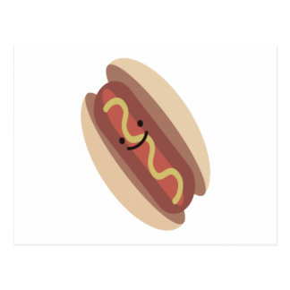 Cute Kawaii Hot Dog Postcard